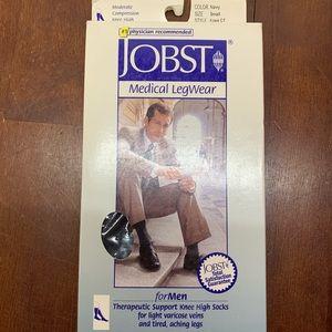 JOBST for Men Compression Socks Navy Small Knee
